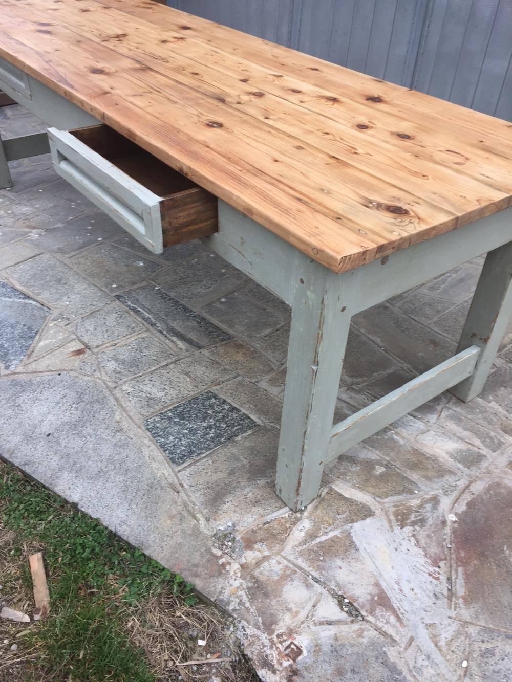 Grande tavolo tavolone restaurato – cod. 614