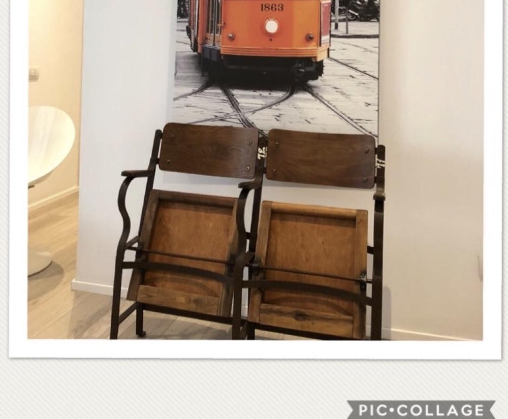 Coppia sedie da cinema vintage – cod. 726