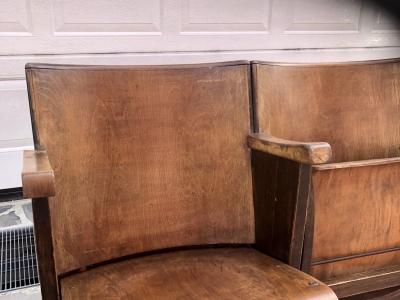 Poltrone da cinema in legno anni 30/40 – cod. 1383