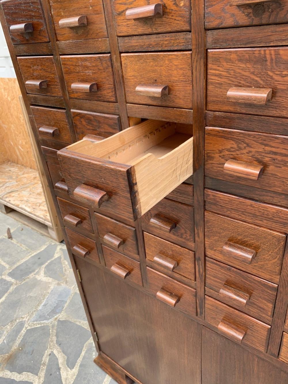 Mobile cassetti cassettiera schedario in rovere- cod. 1510