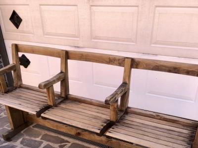 Sedie da cinema teatro anni '30 rovere massello anche da esterno – cod.1569