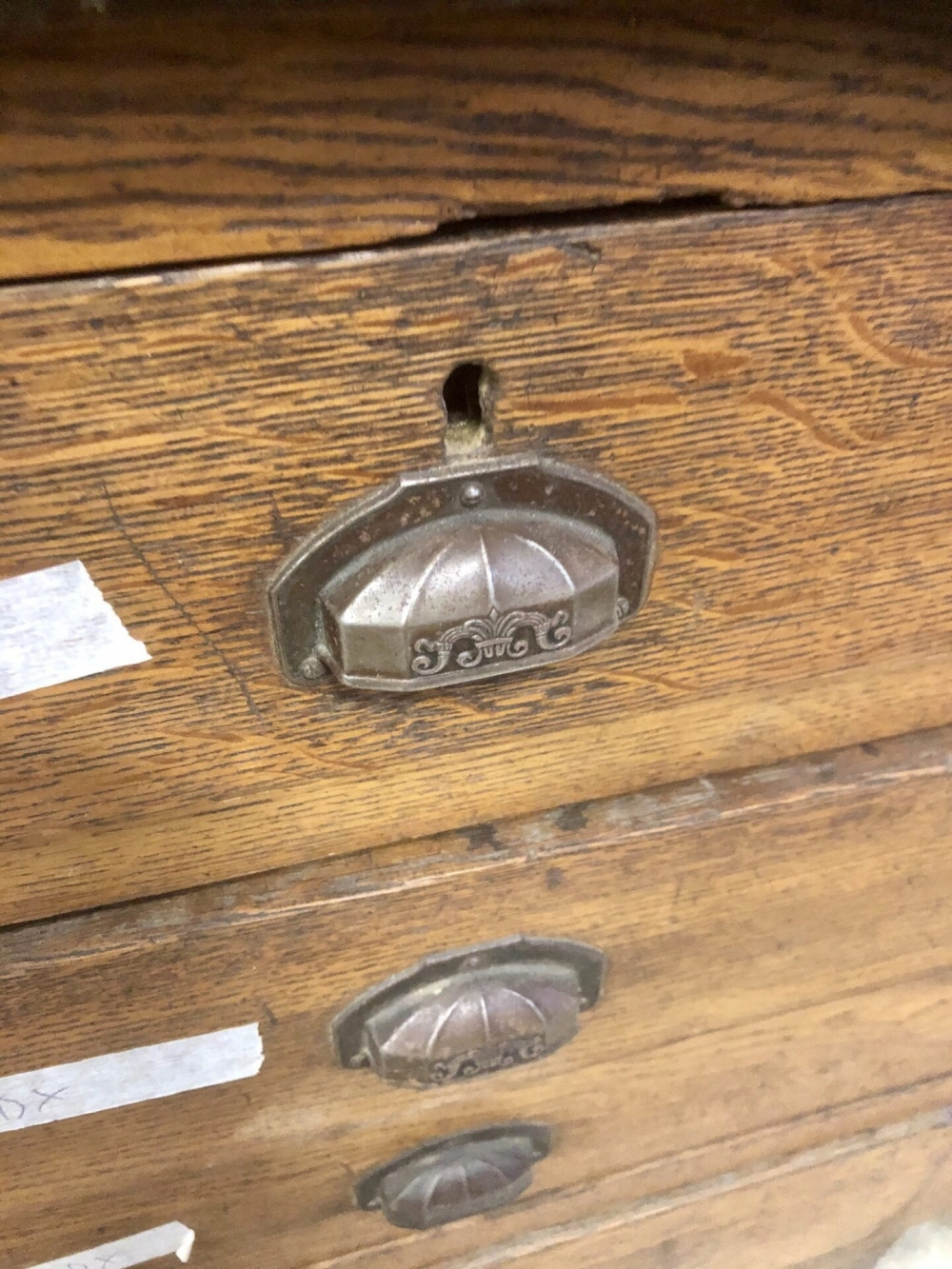 Bancone in rovere anni '30 – cod.1667