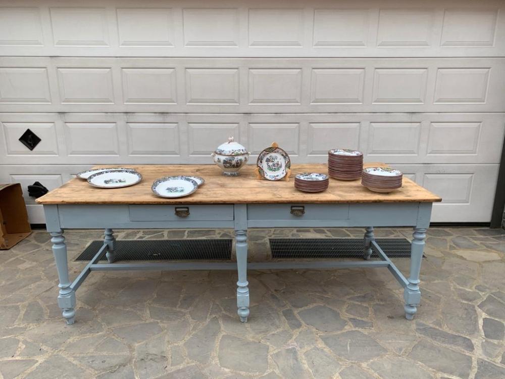 Grande Tavolo in abete restaurato – cod. 1707