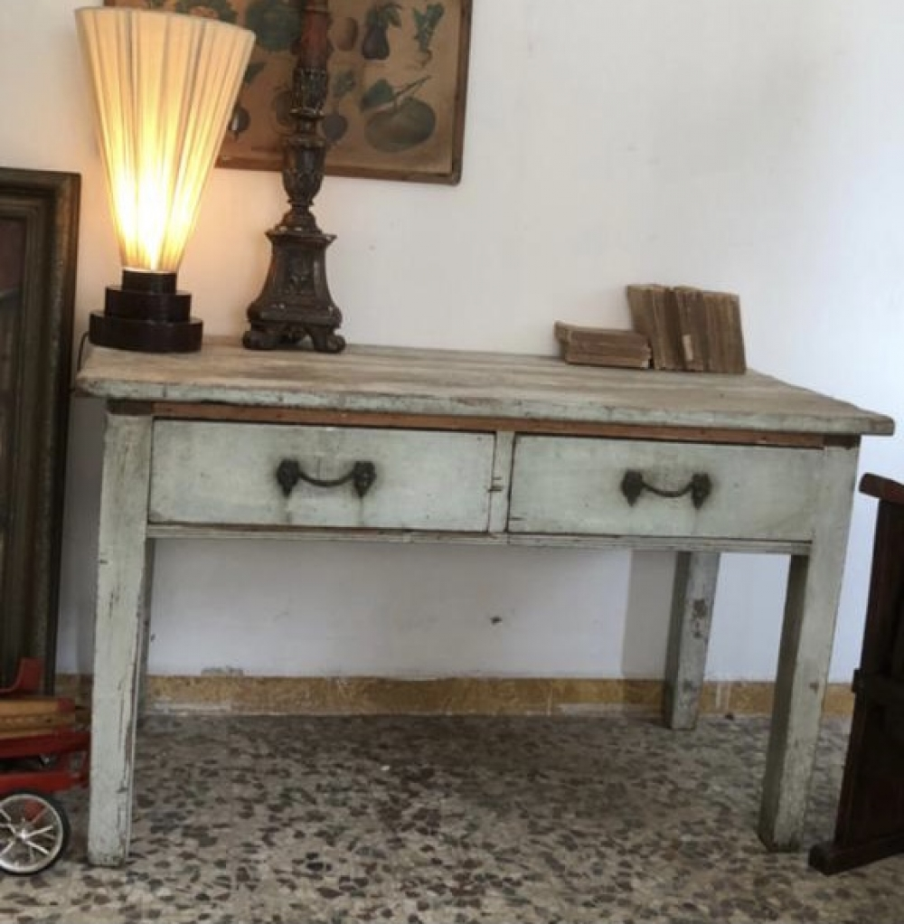 Tavolo rustico con cassetti colore originale – cod. 1774
